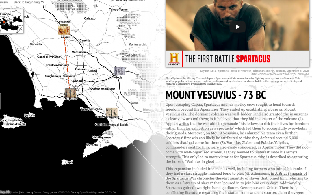 screenshot from StoryMap project